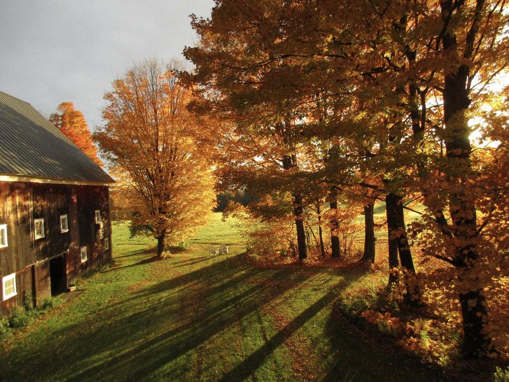 Turning Stone Farm during peak foliage season