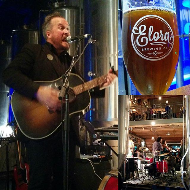 This pic says it all... the @elorabrewingcompany concert series is where it's at!! Video coming soon.  #SunparlourPlayers #LetsJustBeFriends #ontcraftbeer #livemusic