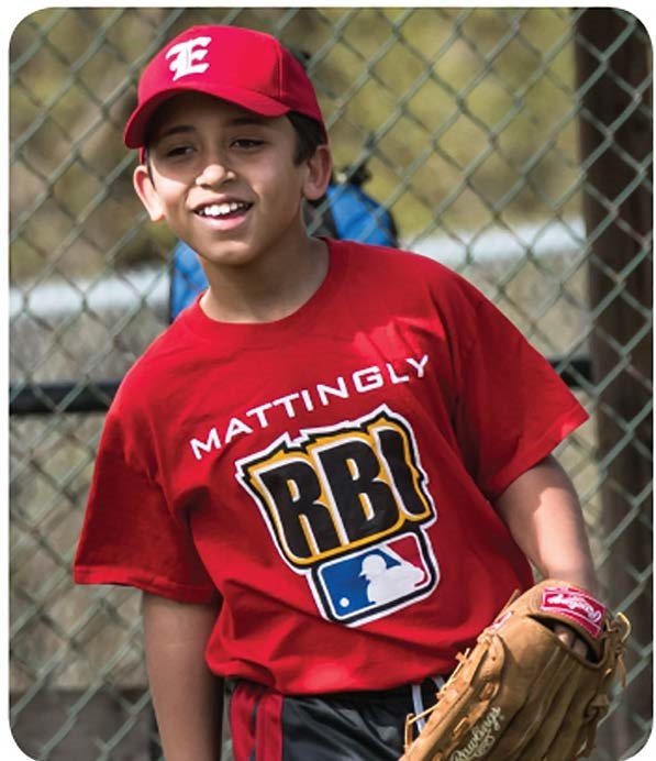 Teddy enjoys being part of a baseball team.