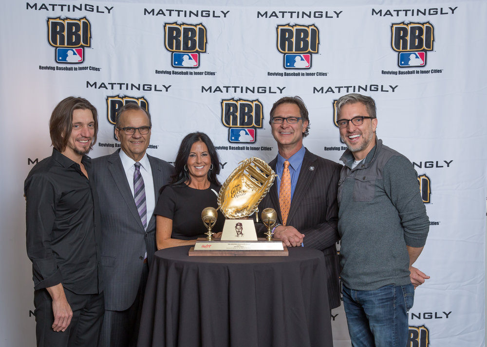 Brad Warren, Joe Torre, Lori Mattingly, Don Mattingly and Brett Warren