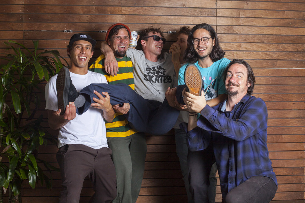 Zack Wallin, Louie Barletta, Ben Raemers,Miika Adamov, Enzo Cautela,and Caswell Berry. Outtake from an upcoming project.