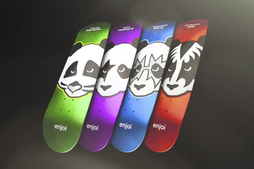 Motion Graphics Update:  Kiss x enjoi skateboarding