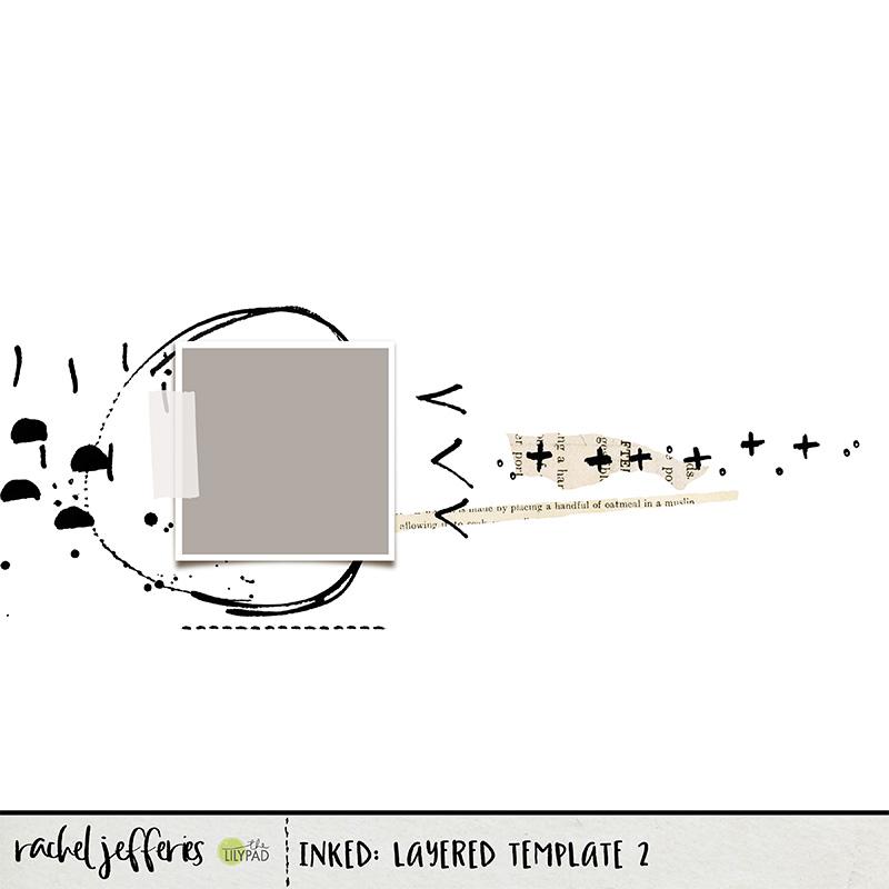 digital scrapbooking template by Rachel Jefferies