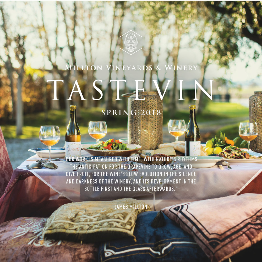 Tastevin Spring 2018 - Click here to read the latest from The Millton Vineyards