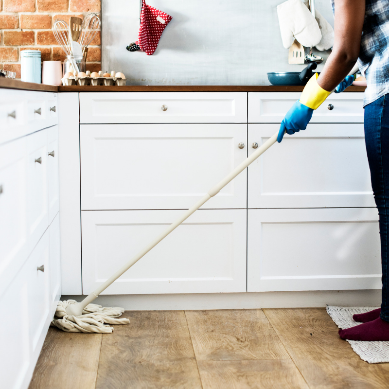 Keeping your temporary kitchen and remodel haven clean will help keep everyone calm.