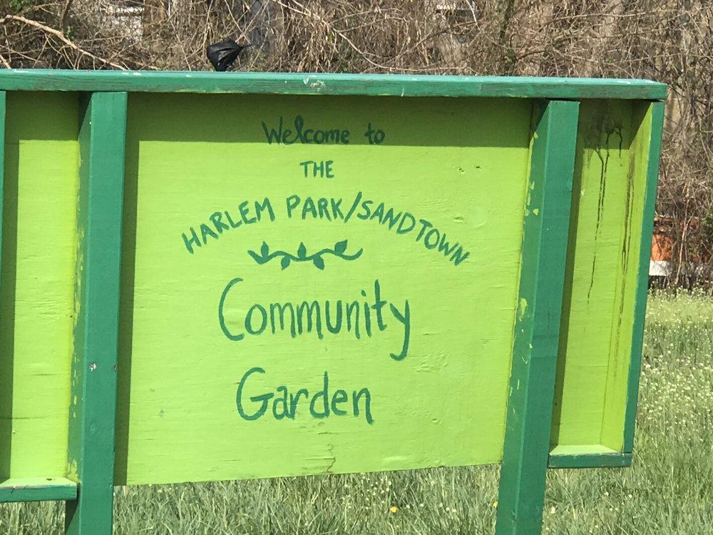 - Soil sampling for lead poisoning at The Harlem Park/Sandtown Community Garden.