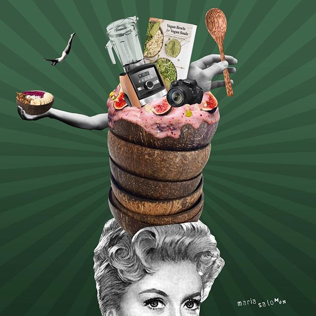 The most tasty giveaway!!! Go to @coconutbowls @veganbowls @vitamix @canonusa #collage @buddha_bowls #cutandpaste  #digitalcollage #digitalart #artwork #art #collageartist #paperart #vintage #design #collageart #collageoftheday #collagework #collageonpaper #instagood #collagem #collageofinstagram #love #contemporarycollage #fabacollagemag  #cuttingedge #paper #nicecream #coconutbowls #veganbowls #healthylife #veganbowlsforvegansouls #vitamix