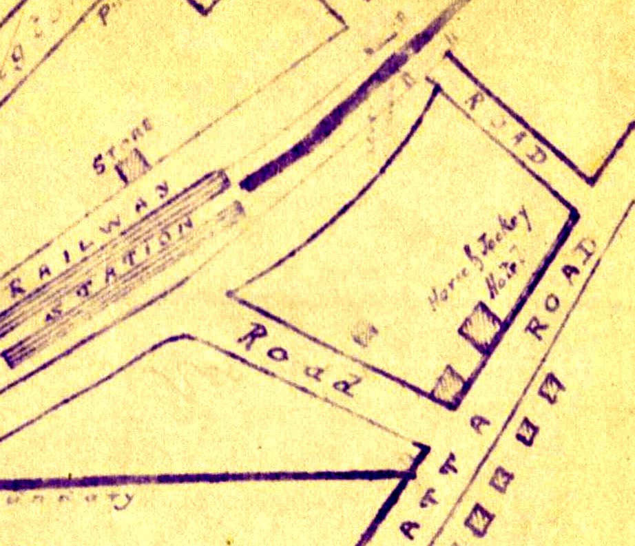 Early 1880's map clearly showing the old Powell Hotel (currently the site of the Summit).