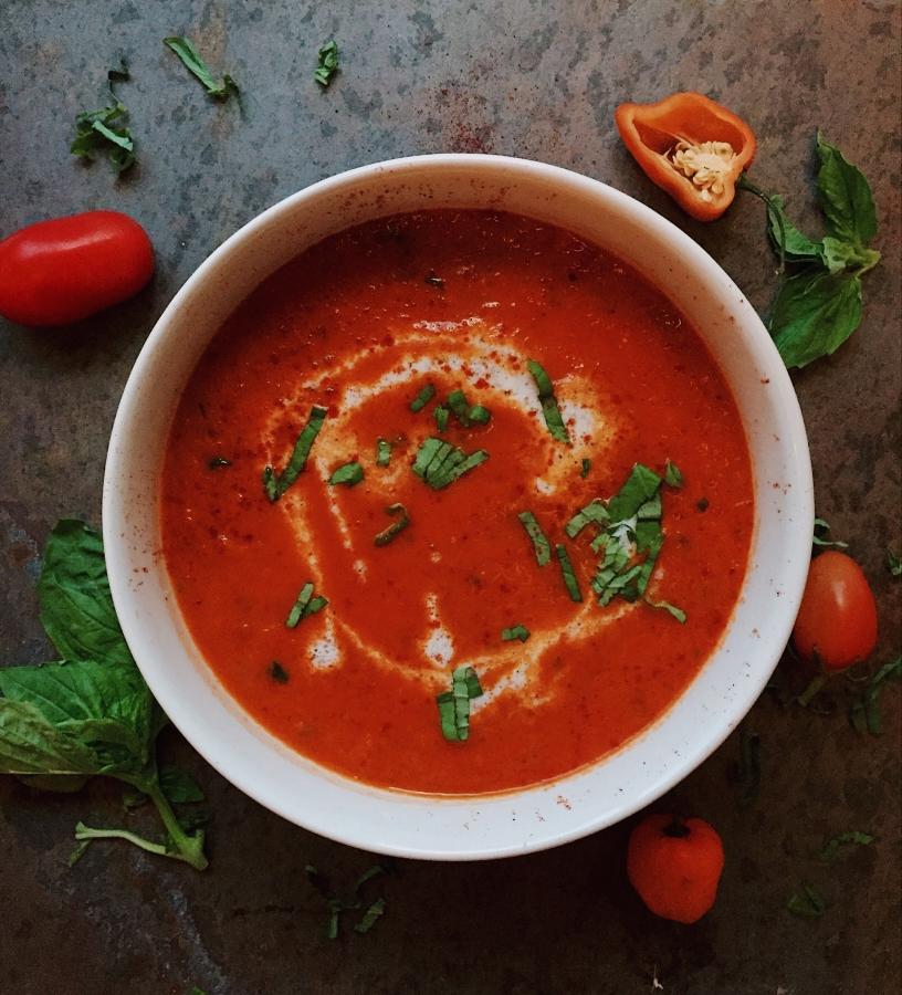 Fresh and Savory Tomato Basil Soup — SolFull Fam