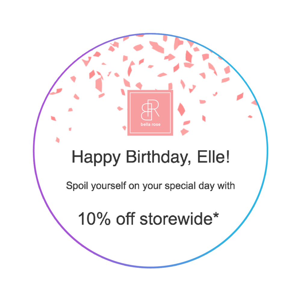 Marsello automated happy birthday email for Shopify