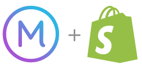 Marsello logo + Shopify Logo