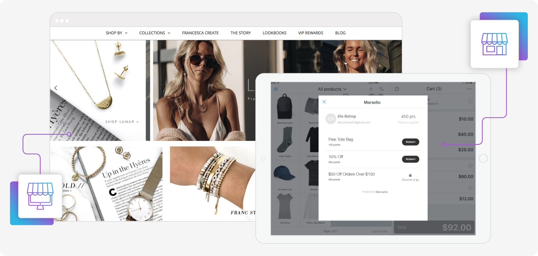Francesca eCommerce store and POS store