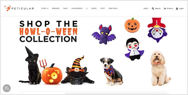 Peticular's halloween-themed website updates