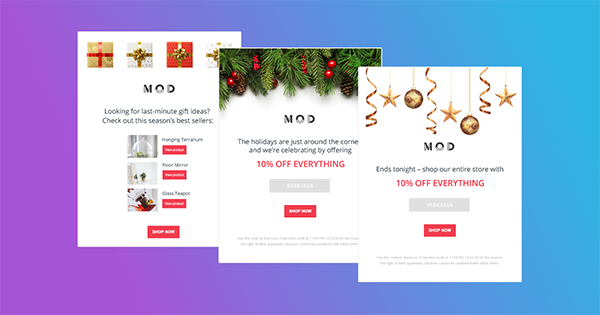 Marsello's holiday-themed Christmas automated flows