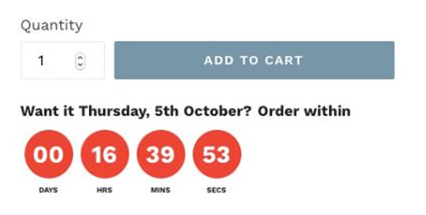 Oder Deadline's countdown calculator embedded on a website