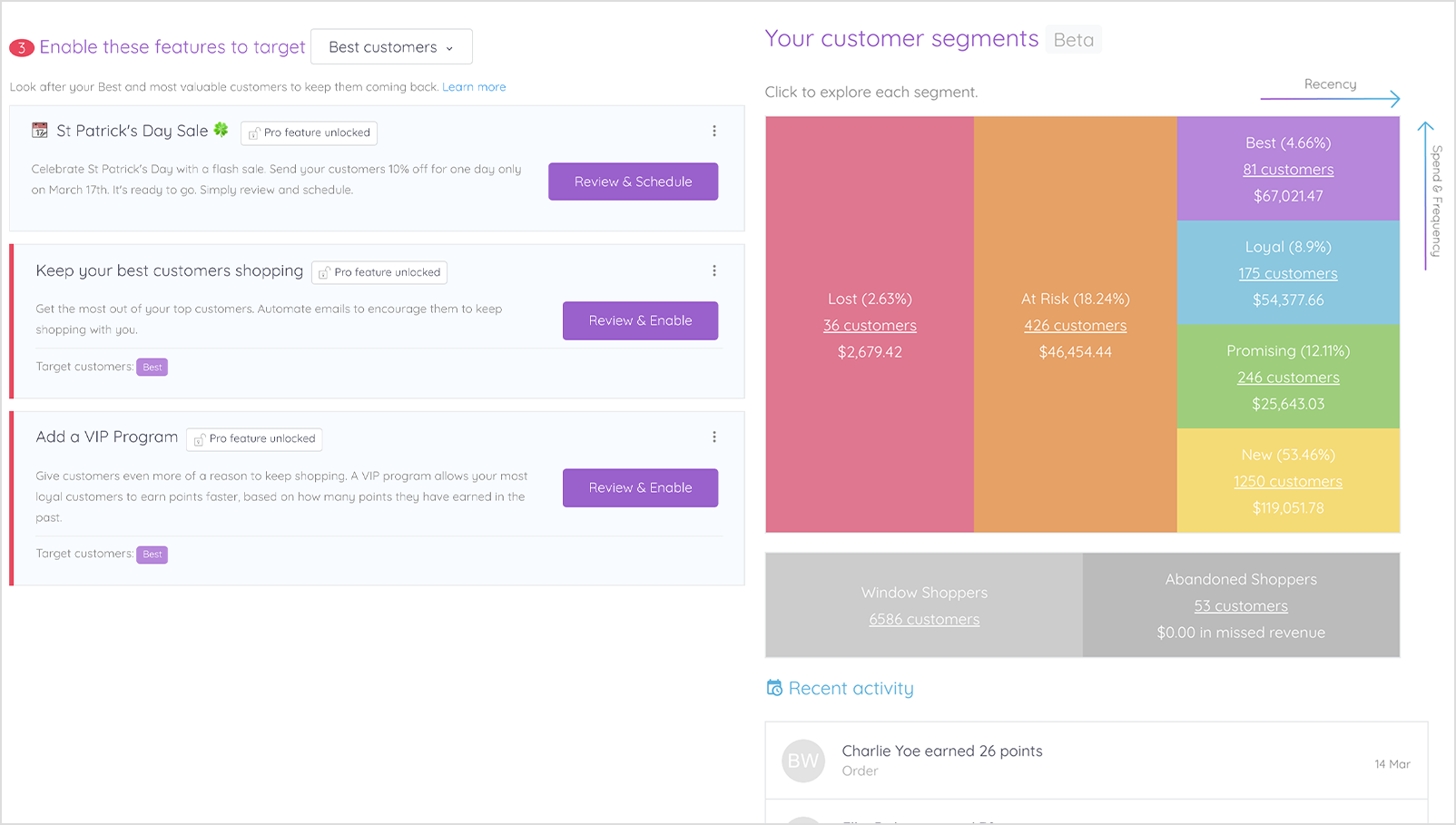 Marsello Customer Segmentation Grid and Suggestions