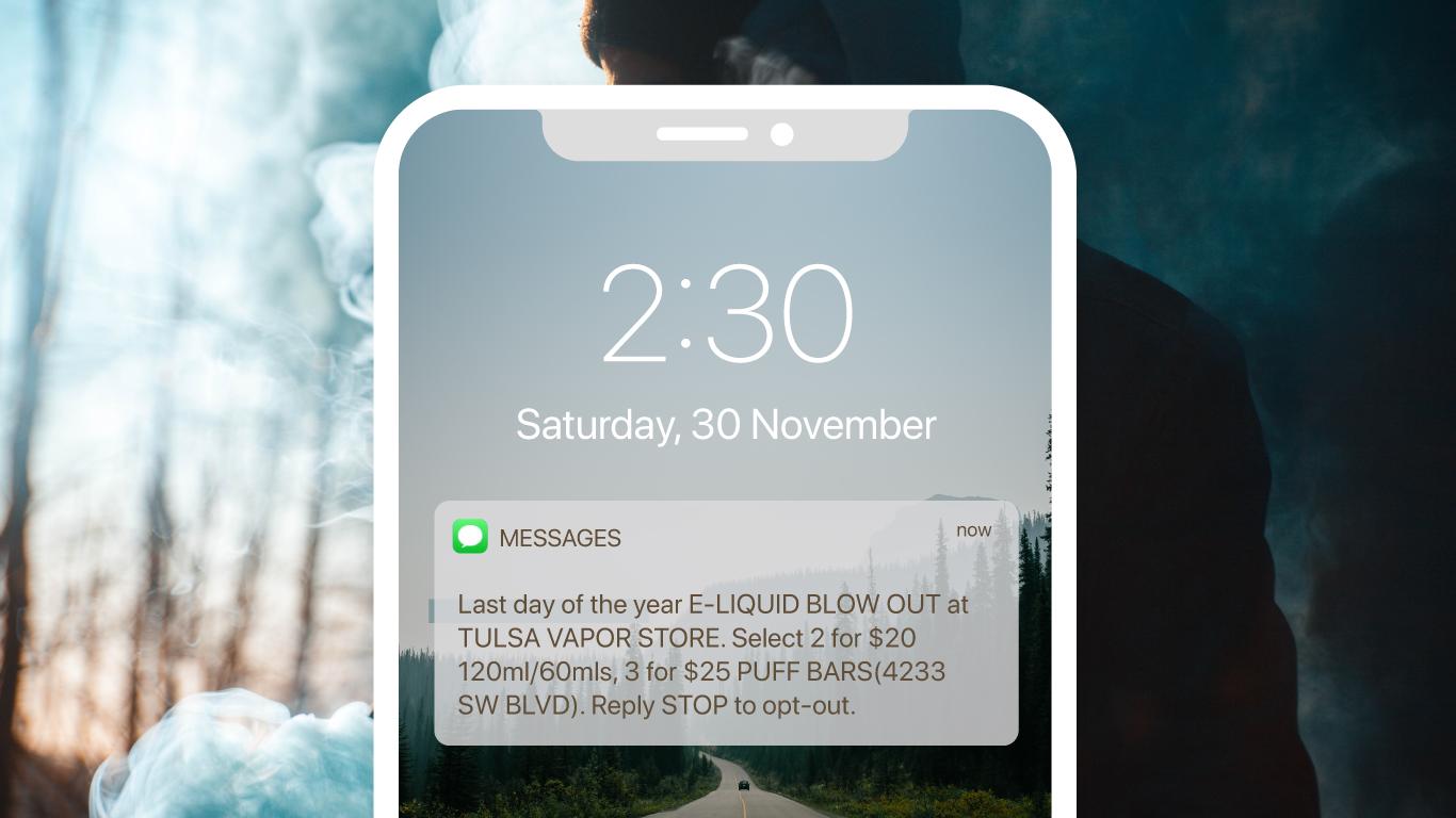 Tulsa Vapor Store uses Marsello's SMS Campaigns