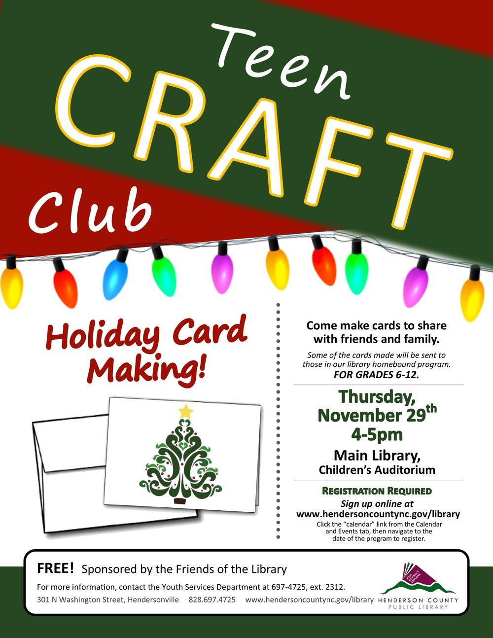 Teen Craft Club Holiday Card Making.jpg