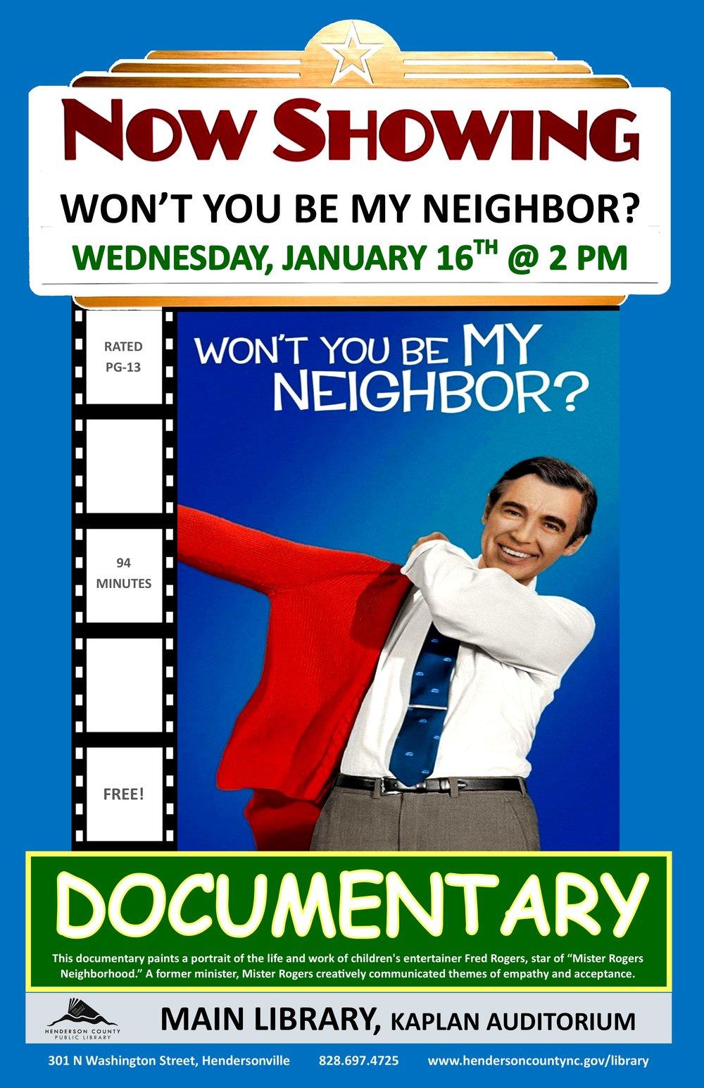 Documentary Wont You Be My Neighbor January 2019.jpg