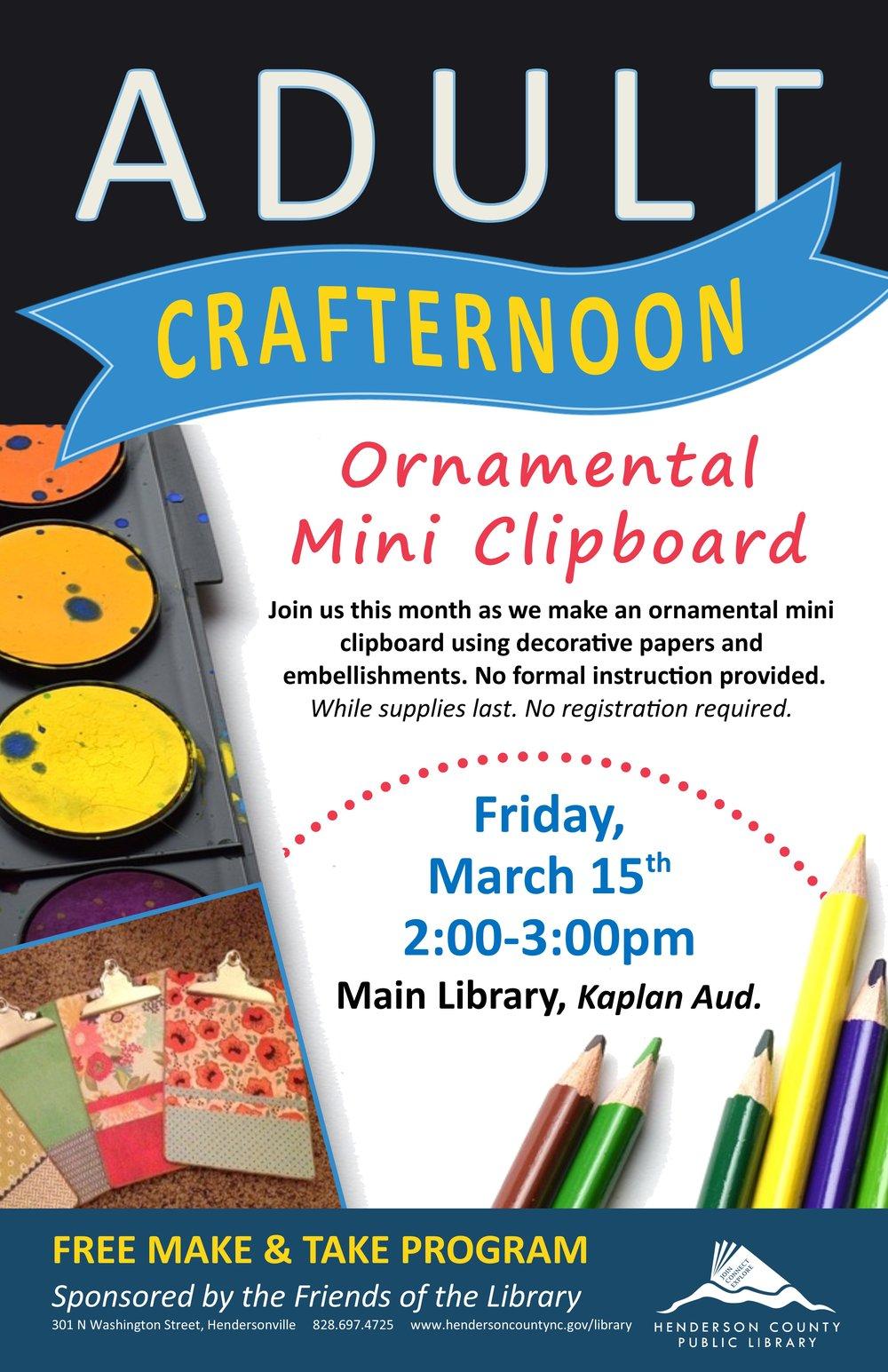 Adult Crafternoon Ornamental Mini Clipboard March.jpg