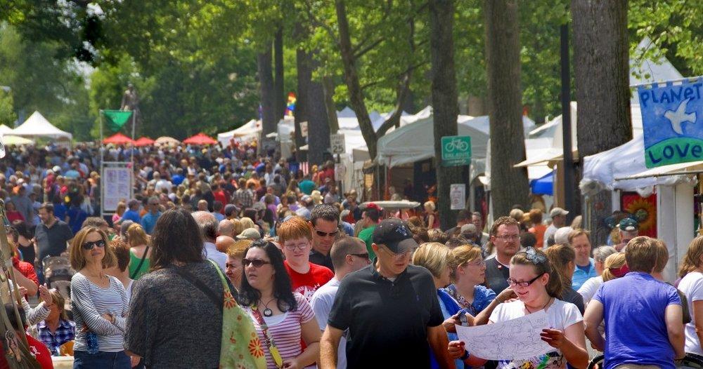 photo via  cherokeetriangleartfair.org