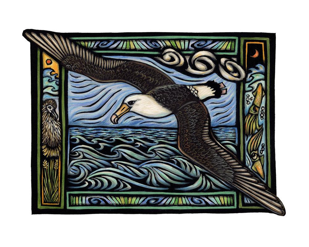 """""""Albatross In Flight"""" by Caren Loebel-Fried"""