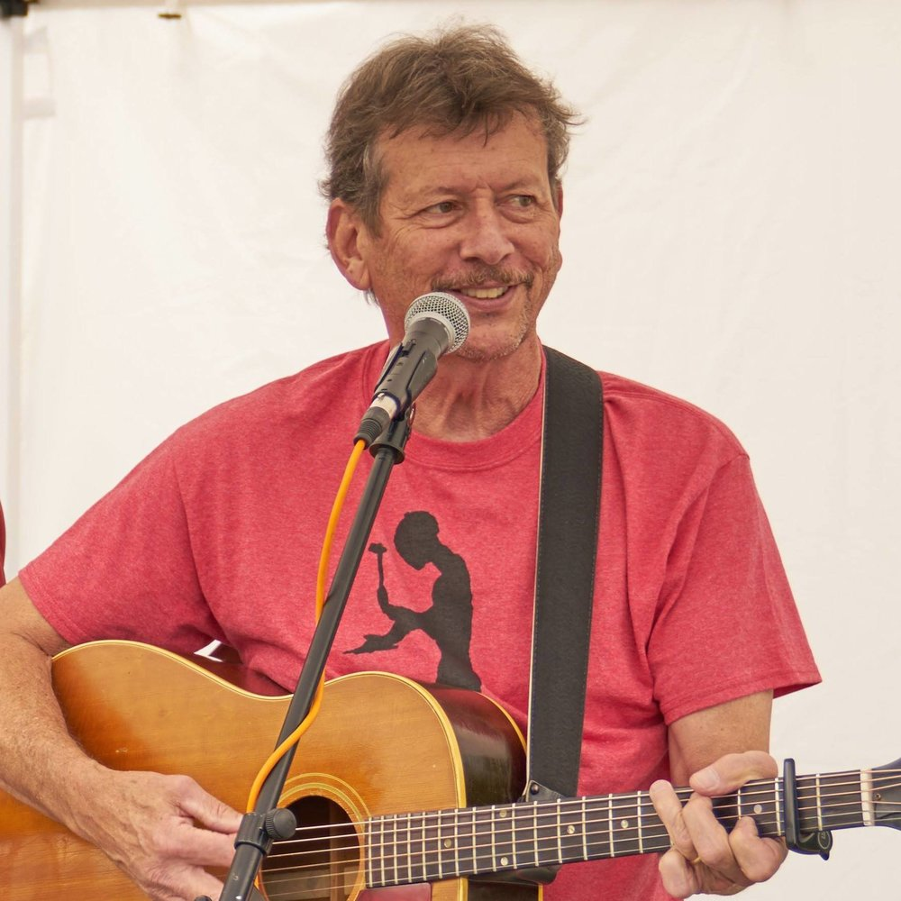 Frank McConnell   Music & Storytelling  Performing along with Crooked Pine Band for night-time entertainment and live music for dancing. In addition Frank is a story-teller, song leader, kids' class teacher and hosts an afternoon open music jam.