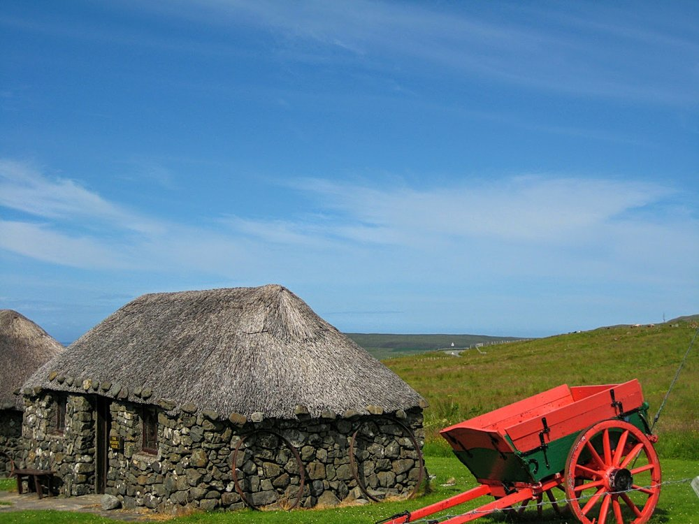traditional crofter's house at Museum of Island Life on Skye.JPG