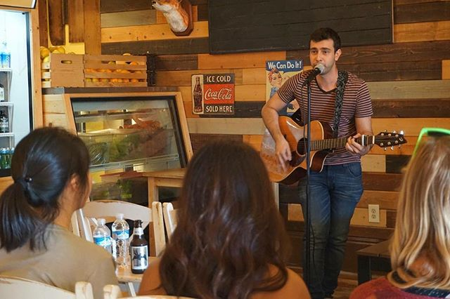 Here's a photo from me performing at @naturesbrew ! Thank you Alyssa and Olivia for having me on your show! #comedy #standupcomedy #comedysong