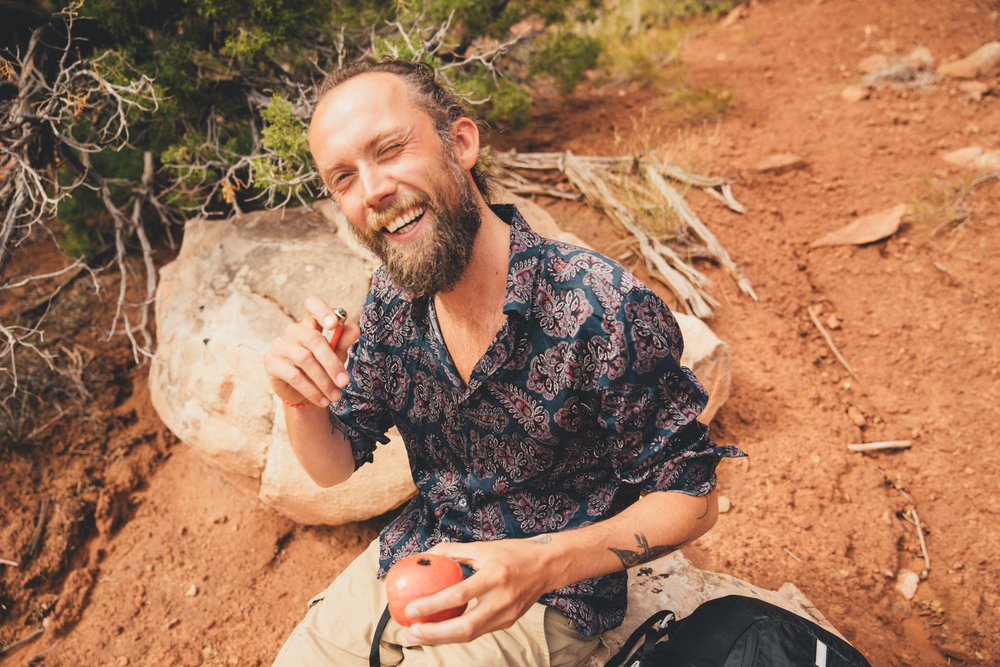 A first: smoking weed through an apple.