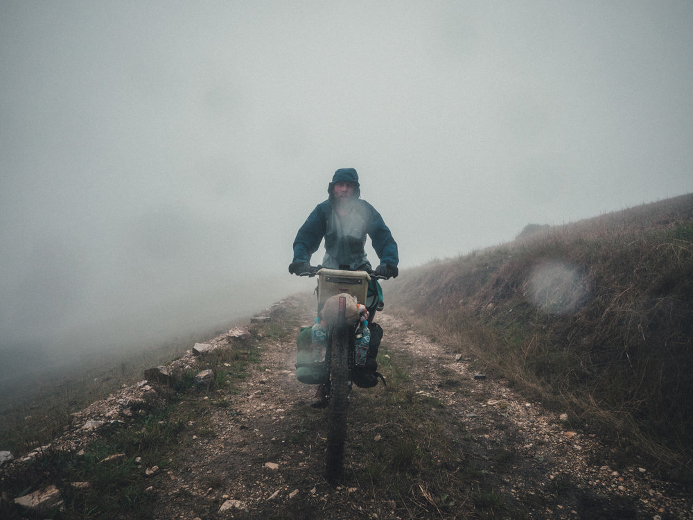 In the clouds at 4200m