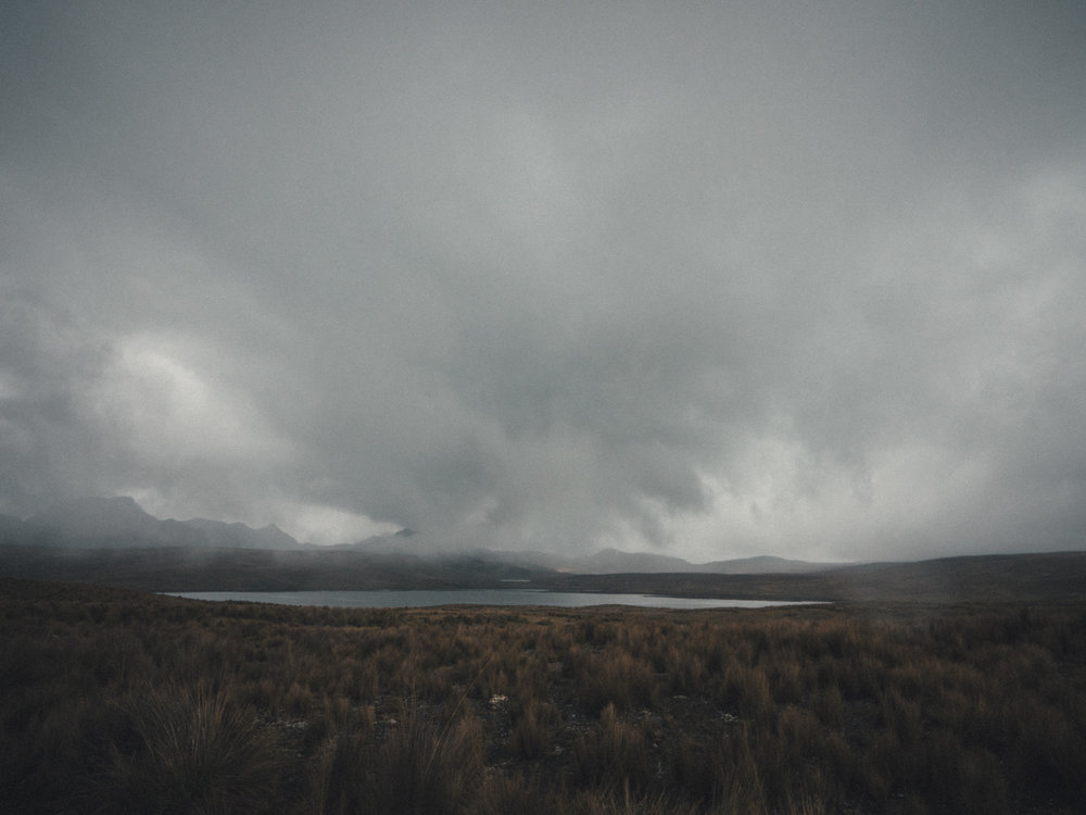 rain storm at 4400m