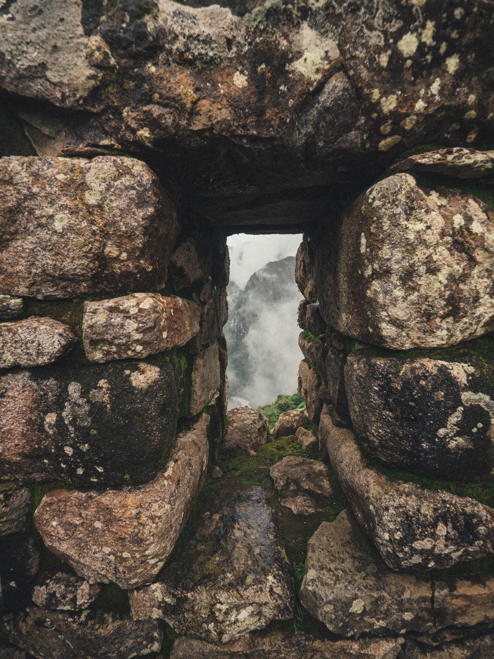 A window in one of the Inca dwellings
