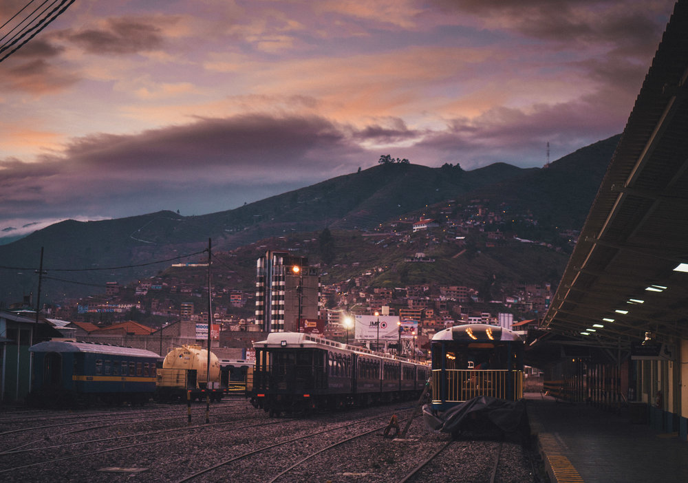 The train station in Cusco. MP is only reachable by train or foot