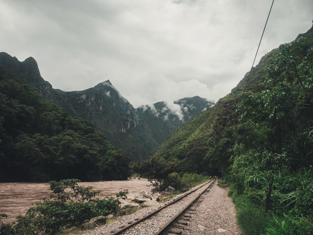 The 2 hour walk back along the train tracks to the first village to catch a bus back to Cusco.