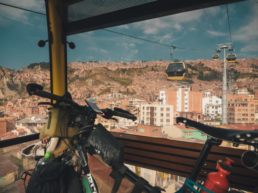 For an extra ticket you can bring your bike in Mi Teleférico