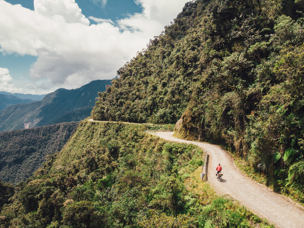 """""""Death Road"""", a days ride from La Paz (more in the next post)"""