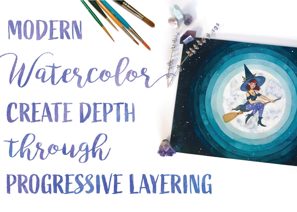 - Modern Watercolor: Create Depth Through Progressive Layering
