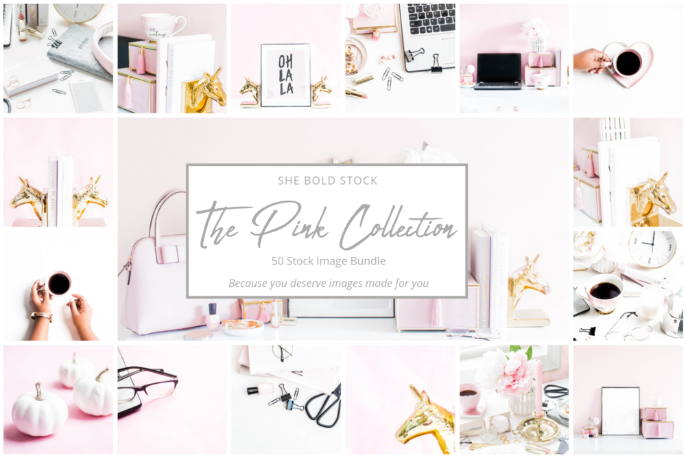 Pink and Grey Stock Photos for feminine brands.png