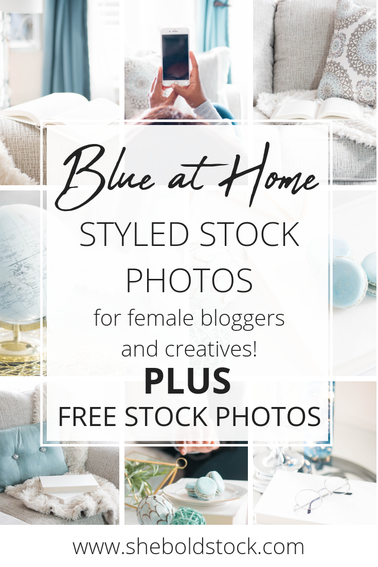 blue home style stock photos for women entrepreneurs