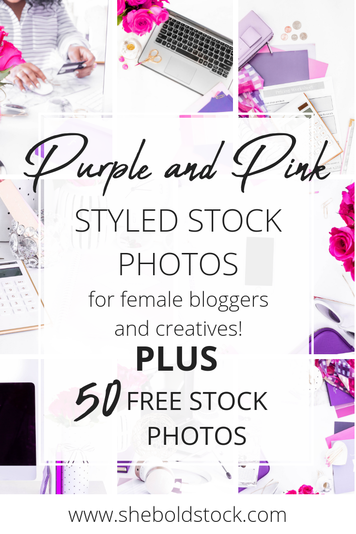 purple and pink style stock photos for women entrepreneurs