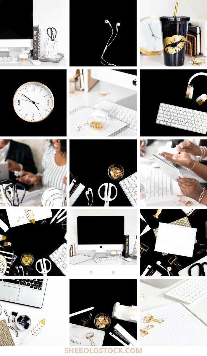 Black and White Stock Photos for Women Entreprenurs