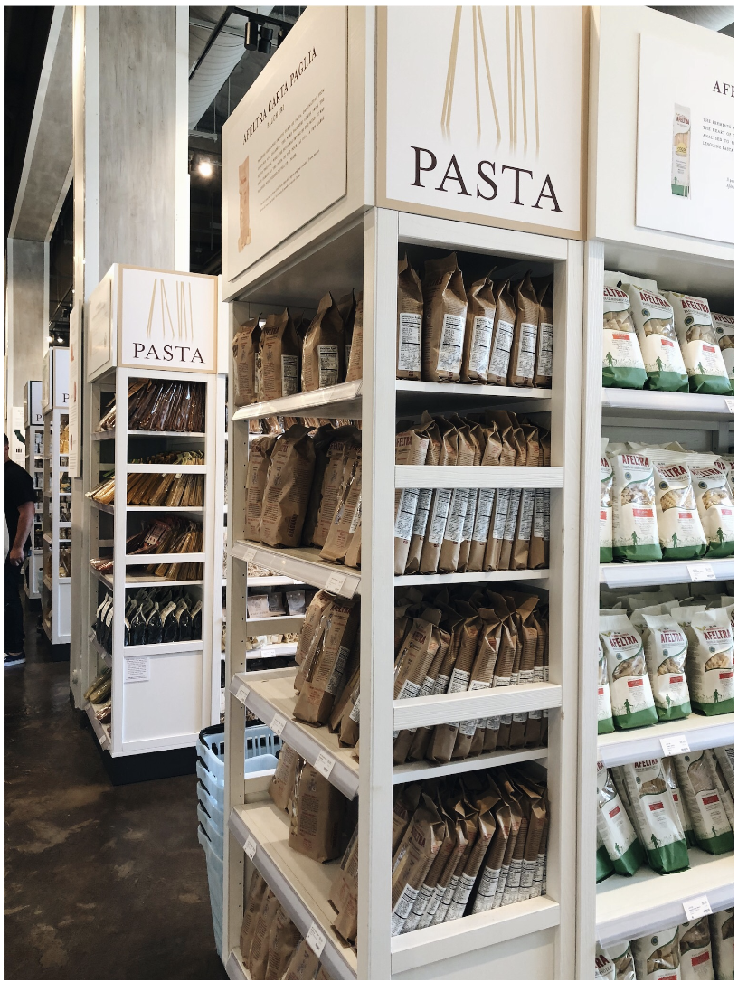The pasta section