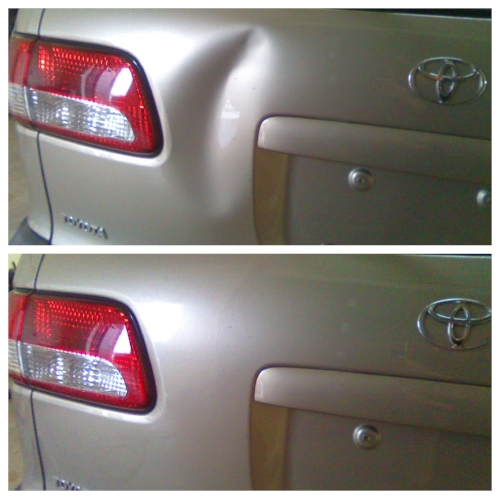 toyota sienna dent before and after