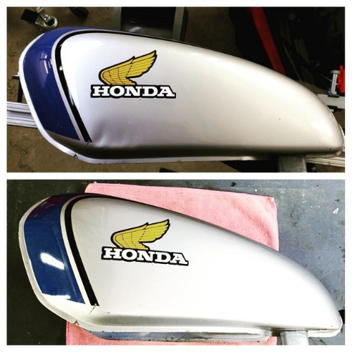 honda motorcycle tank dent repair