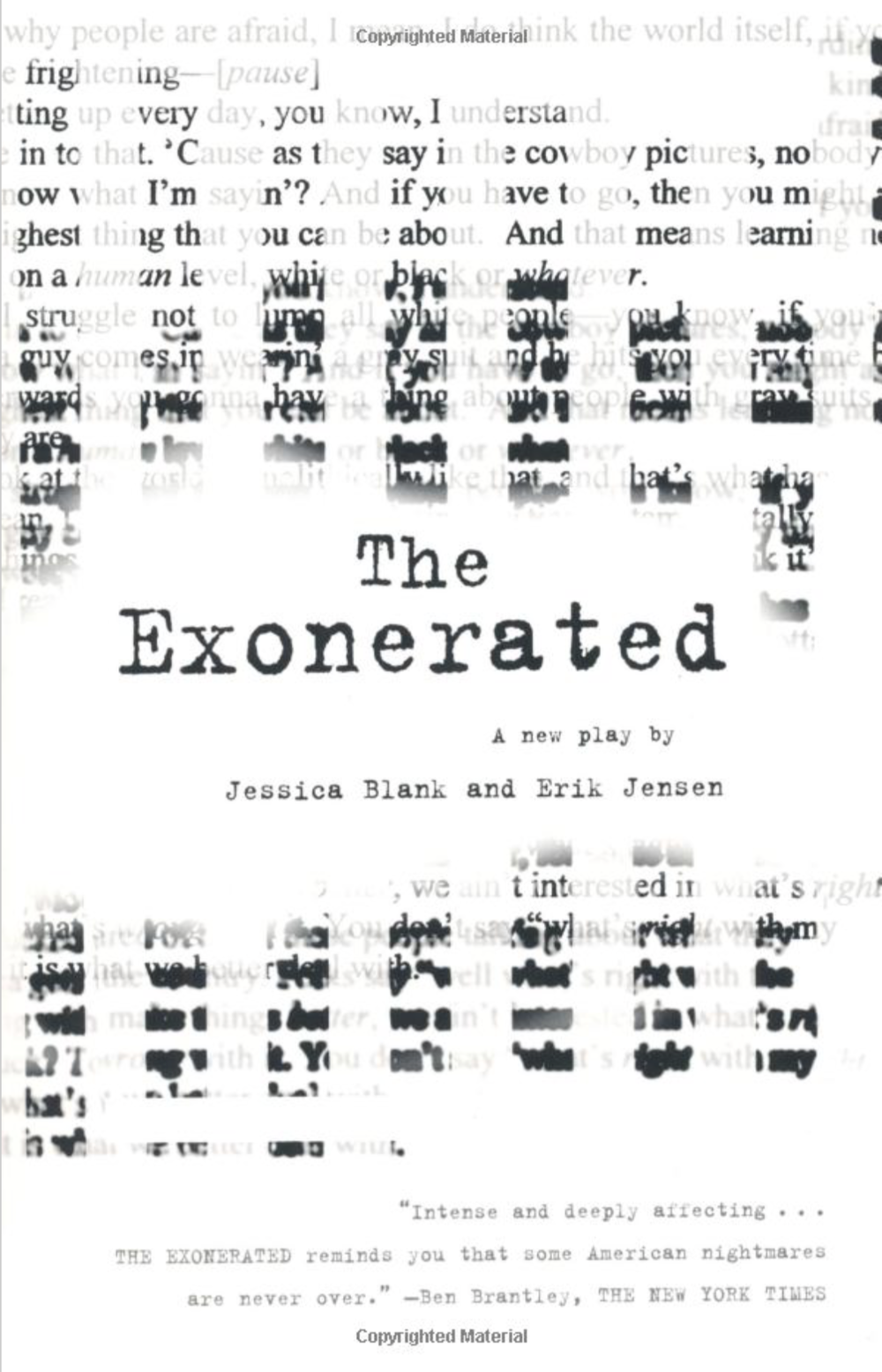Book: The Exonerated - By Jessica Blank