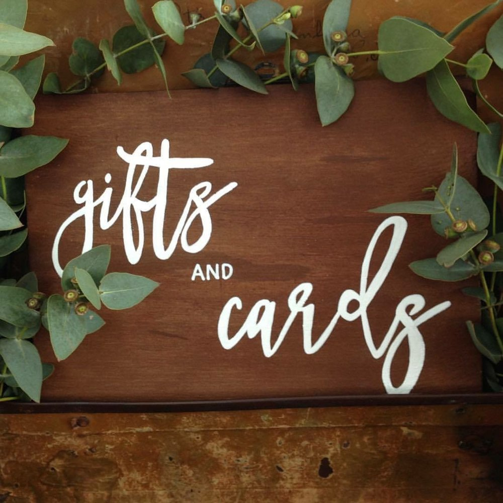 Rustic Gifts + Cards Sign # $5