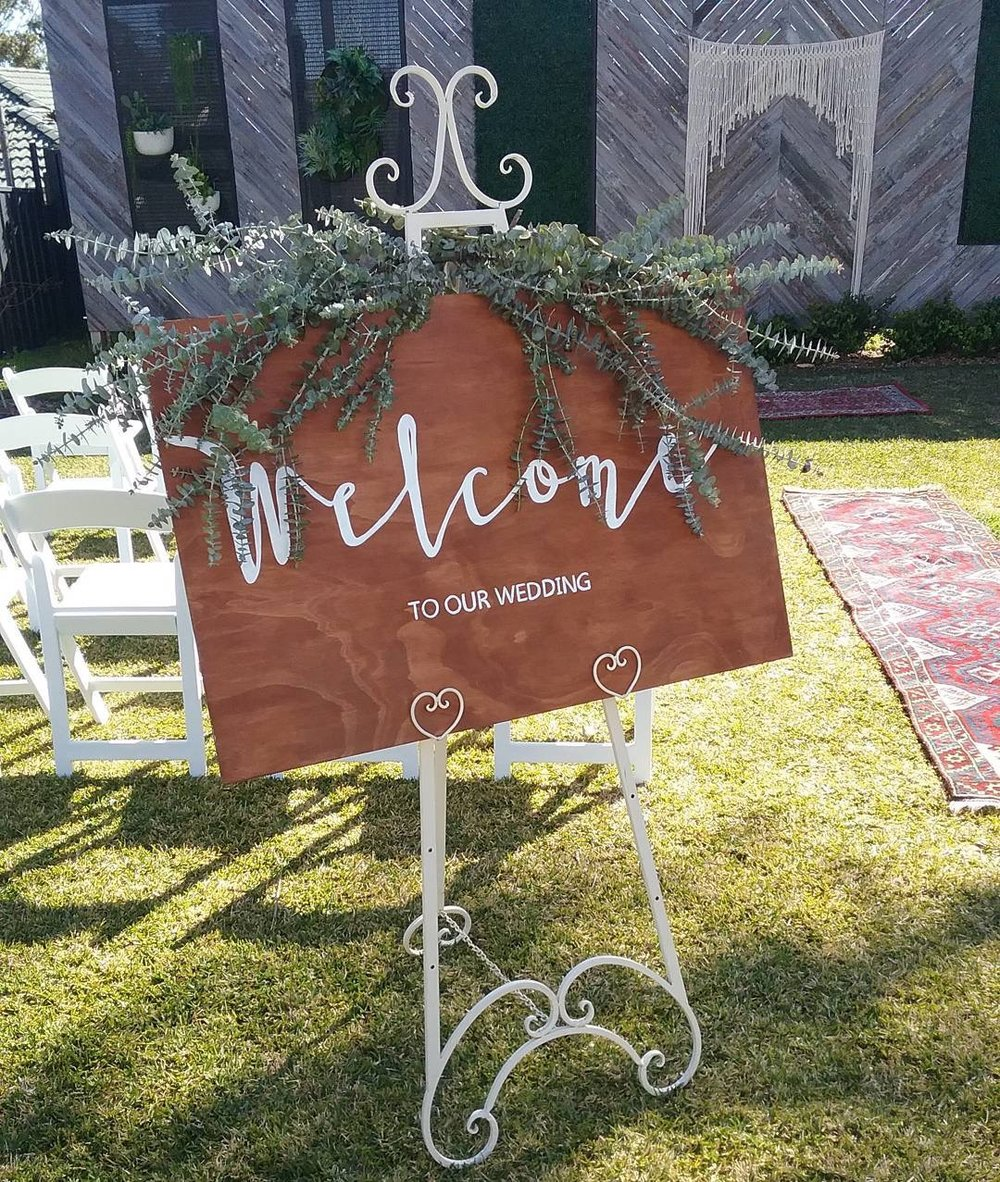 Wooden Welcome Sign # $30