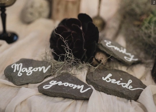 Flat Stone Place Cards