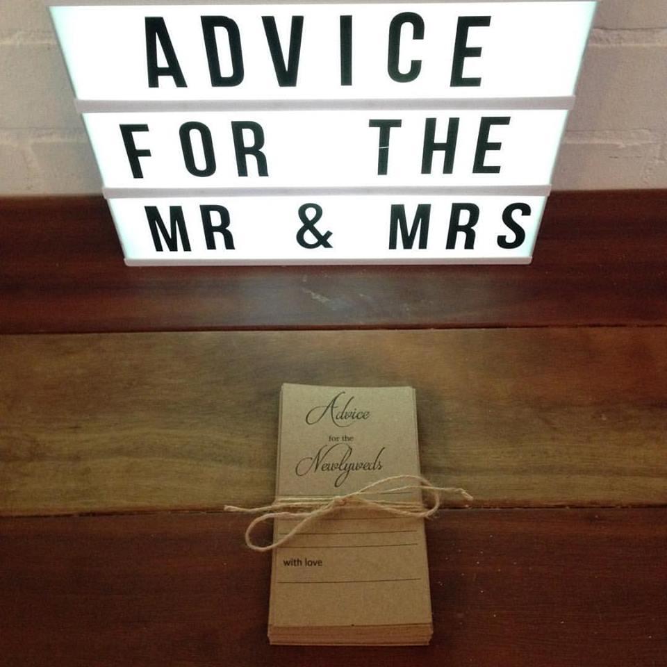 Newlywed Advice Cards